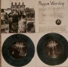 CHAINSAW TO THE FACE - Plague Worship - 7 EP (PSYCHO 029) BLUE MARBLED