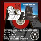 IMPULSEALER / NO GOD RETHORIC split 7 EP (PSYCHO #074) RED